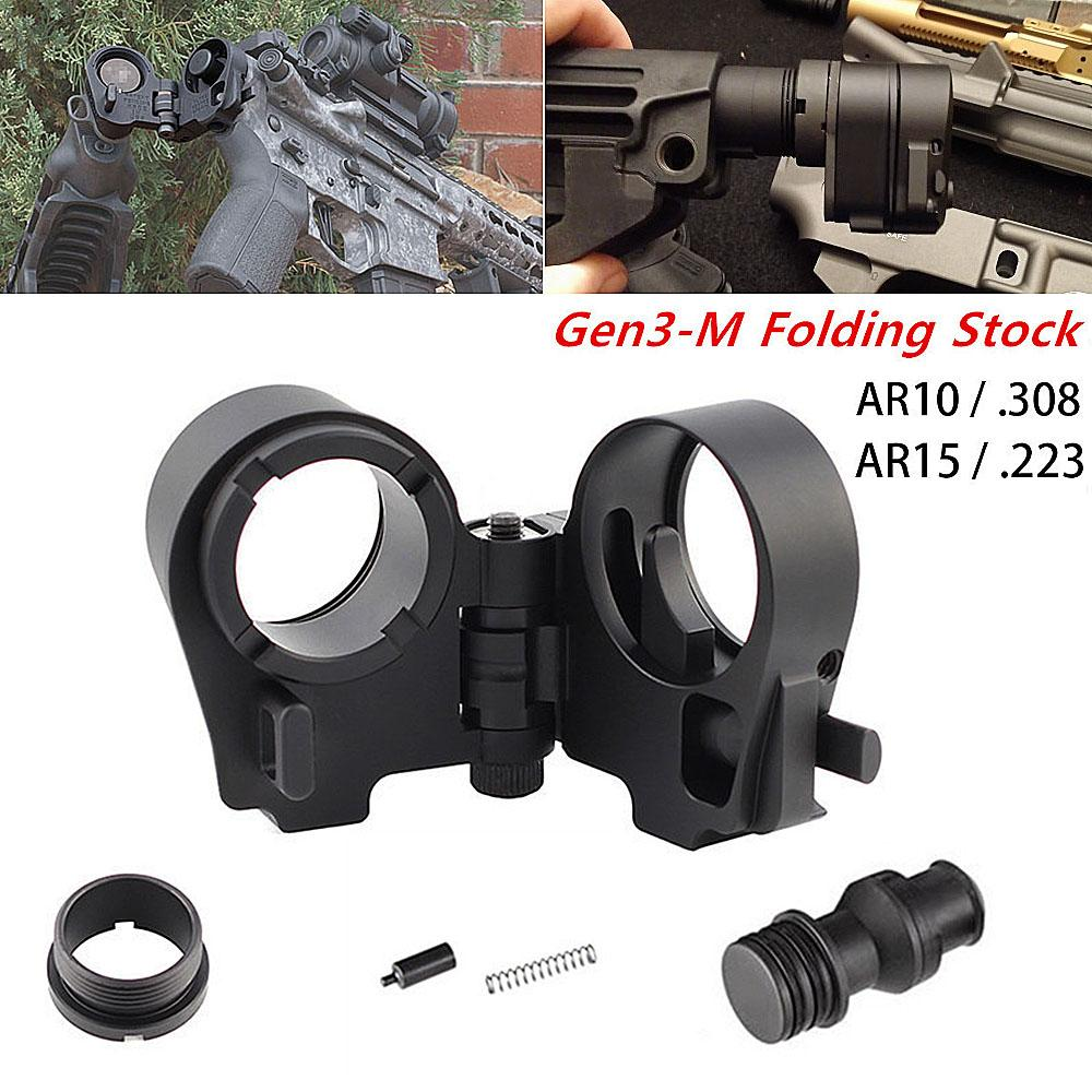 Magorui Tactcal Carbines AR15 AR10 .223 .308 M4 / M16 Gen3-M AR Plegable Adaptador de stock Accesorios de caza