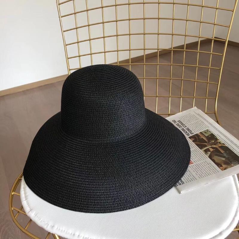 Chapeaux larges chapeaux rétro chapeau de paille noire pare-soleil écran solaire plage de vacances été féminin grand soleil