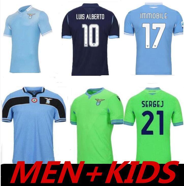 120 e maillots de football Lazio 10 Luis Alberto 11 Joaquín Correa 17 Ciro Immobile 21 Sergej 33 Acerbi 77 Chemise de football maruse 20 -21
