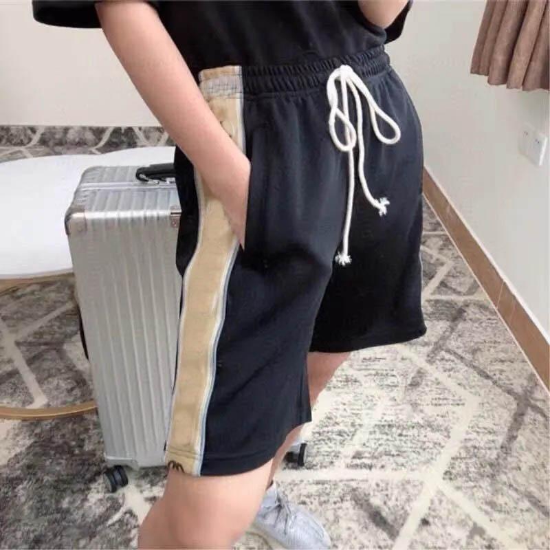 2021 Pantaloncini da uomo Summer Casual Cotton Moda Moda Breve Elastico in vita Bermuda BeachShort