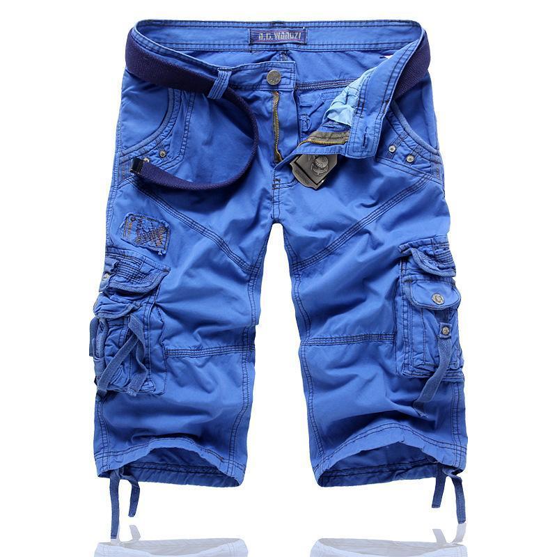 Mens Shorts Amberheard 2021 Mens Carga Shorts Primavera Verão Casual Camuflagem Algodão Homens Táticos Calças Calças Calças Comprimento do Joelho Plus Size