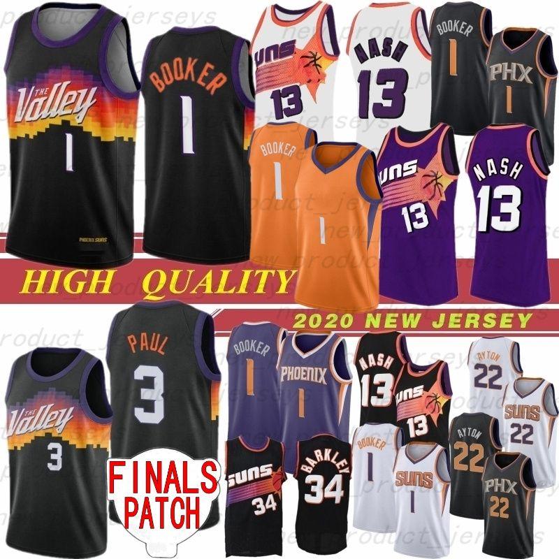 Devin 1 Booker Chris 3 Paul Deandre 22 Ayton Man Jersey Steve 13 Nash NCAA 2020 Yeni Güneşler Basketbol Formaları 34 Barkley 1 Booker 3 Paul Ayton En Çok Satan