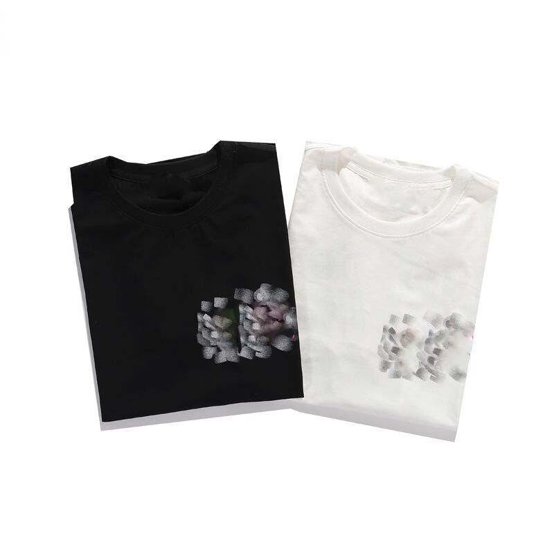 2021 Manches Mens T-shirt Summer Cold Col T-shirt Surdimensionné T-shirt Coton Tshirt Tshirt Streetwear Hip Hop Tee shirt S-XXL