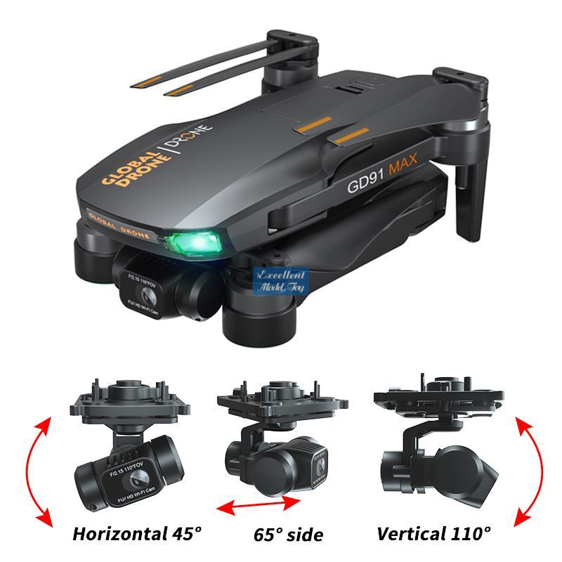 GD91 MAX Drone 3-axis Gimble Anti-shake, 5G 6K-Camera 50x Zoom, Brushless Motor,GPS Smart Follow, RC Distance 1.2KM, 25-Minute Fly Time, 2-1