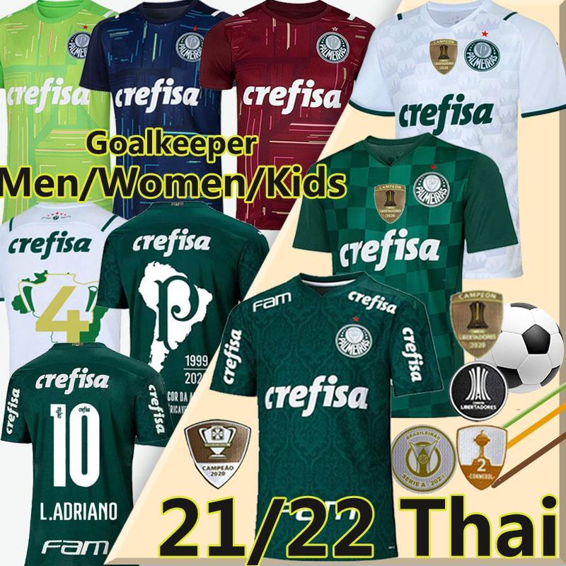 2021 2022 Palmeiras Fussball Jersey Felipe Melo L.Adriano Football Jersey G.Veron G.Gomez Breno Lopes Camisa de Palmeiras Männer Frauen Kinder Kits