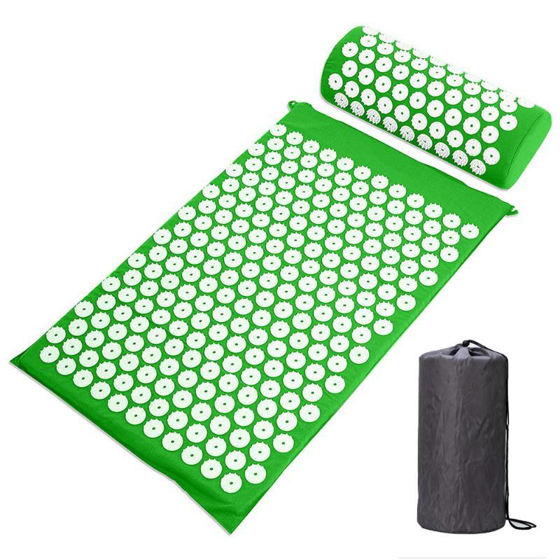 Portable Acupuncture Cushion Massage Cushion Oxford Cloth 4 Color Acupuncture Massage Decompression Pad Yoga Mat Durable