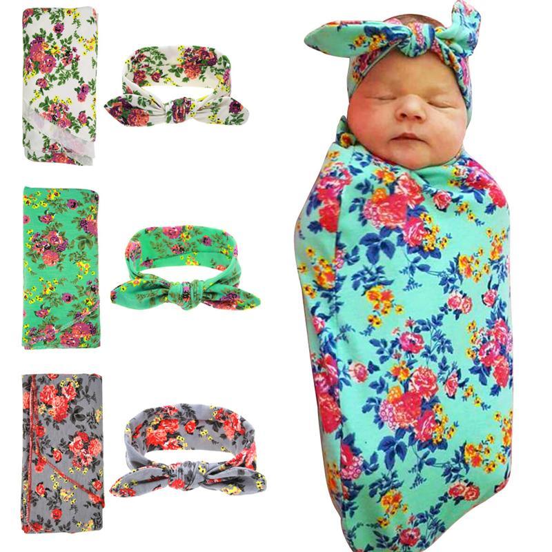 الوليد الطفل زهرة swaddling التفاف بطانية الطفل يلف القماش رباطات مجموعة الحضانة الفراش منشفة الطفل الرضيع ملفوفة مناشف BHB06