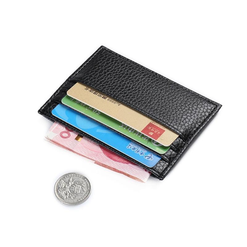 6 cor titular do cartão de cor bolso de negócios magro ID fino cartão de crédito cartão de crédito carteira de couro homem falso cartão jllfky