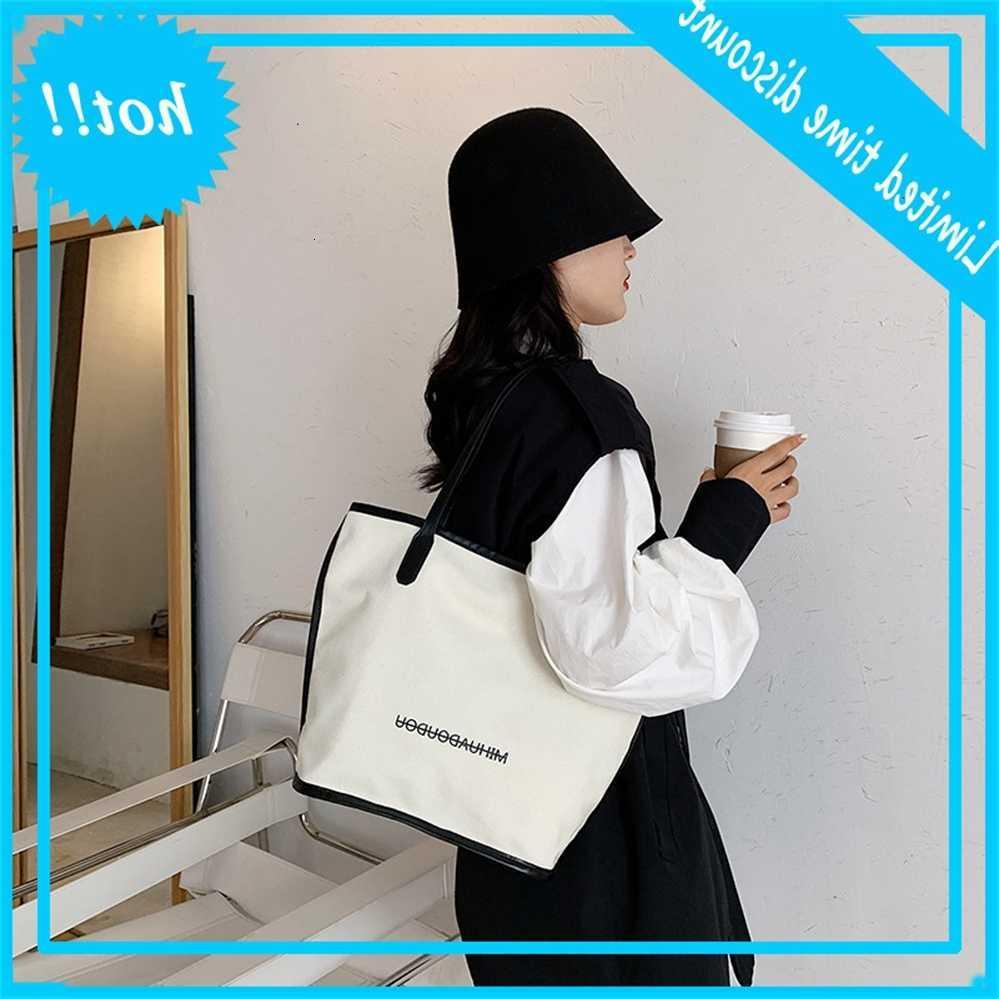 Herbst 2020 Neue Brief Design Gefühl der Freizeit Vielseitige Kapazität Eine Schulter Canvas Tasche Mode Frauen Handtasche