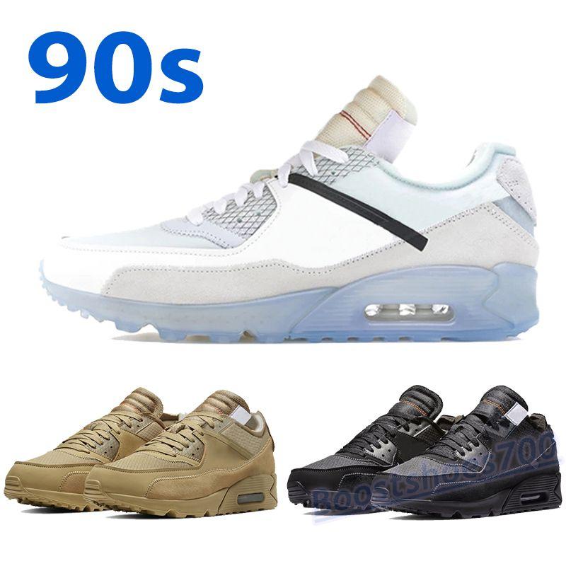 90 Desert Ore Mens Scarpe da corsa Nero Bianco Sport Trainer 90s Moda Uomini Donne Sneakers Scarpe da ginnastica all'aperto Chaussures con tag US 7-11