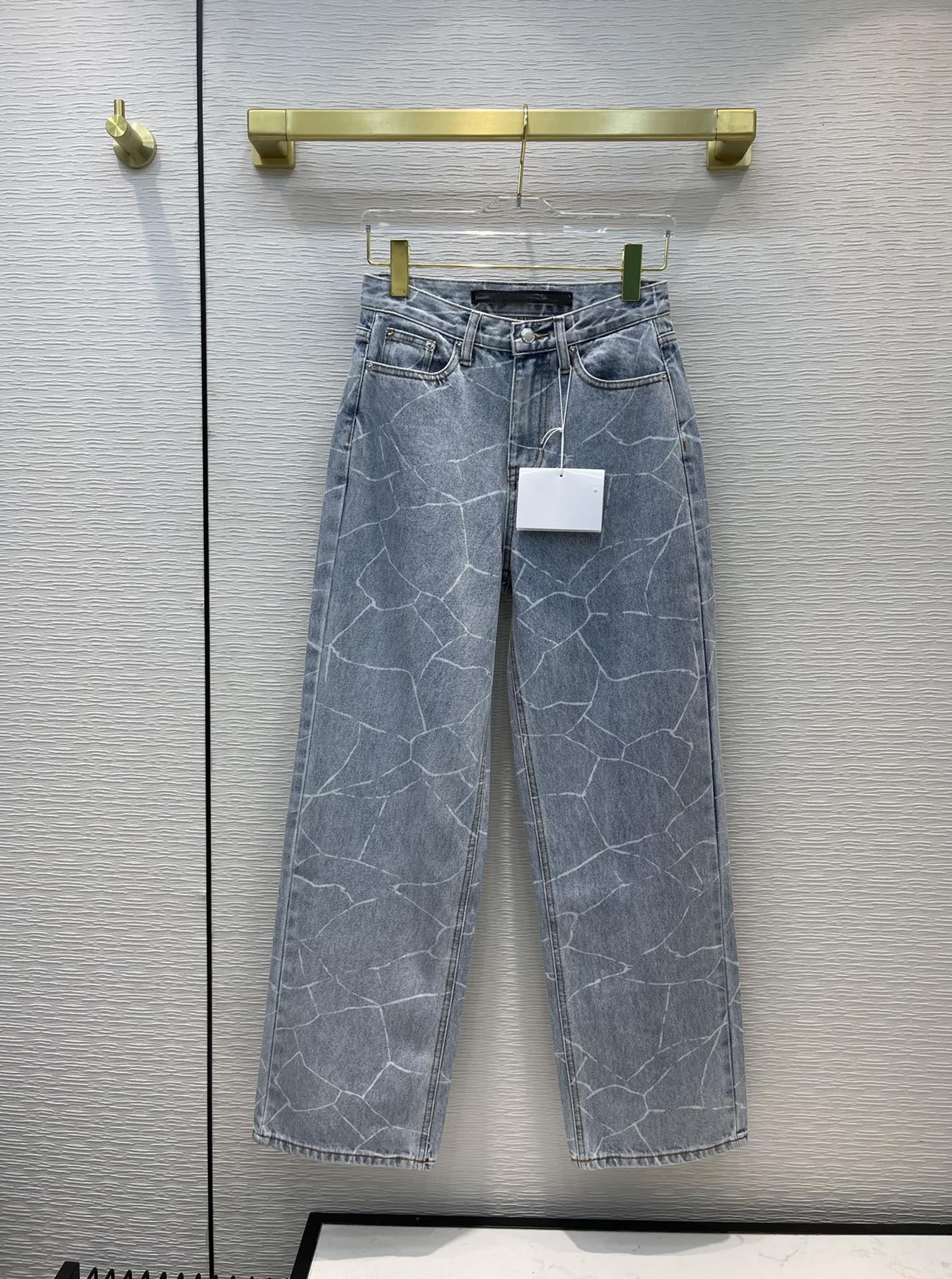 Milano Pist Jeans 2021 Sonbahar Moda Tasarımcısı Geniş Bacak Marka Aynı Stil Lüks Bayan Giyim 0729-10
