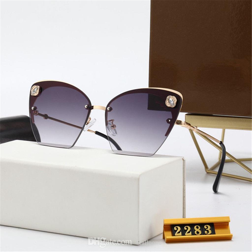 Modedesigner Polarisierte Luxus-Sonnenbrille Männer Frauen Marke Pilot Sonnenbrille UV400 Brillengläser Metallrahmen Polarisierte Linse 2283 mit Box
