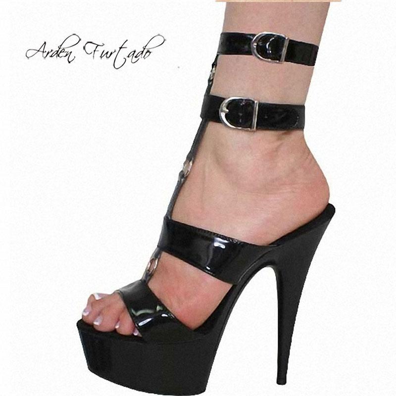 Arden Furtado 2021 summer Fashion Women's Shoes poots platform Buckle Sandals Stilettos Heels large size 46