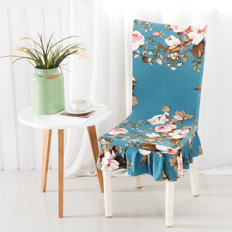 Coperture sedia Wlialeo 2021 Copertina di seduta Moderno Spandex, Poliestere stampato per matrimoni, decorazione domestica El