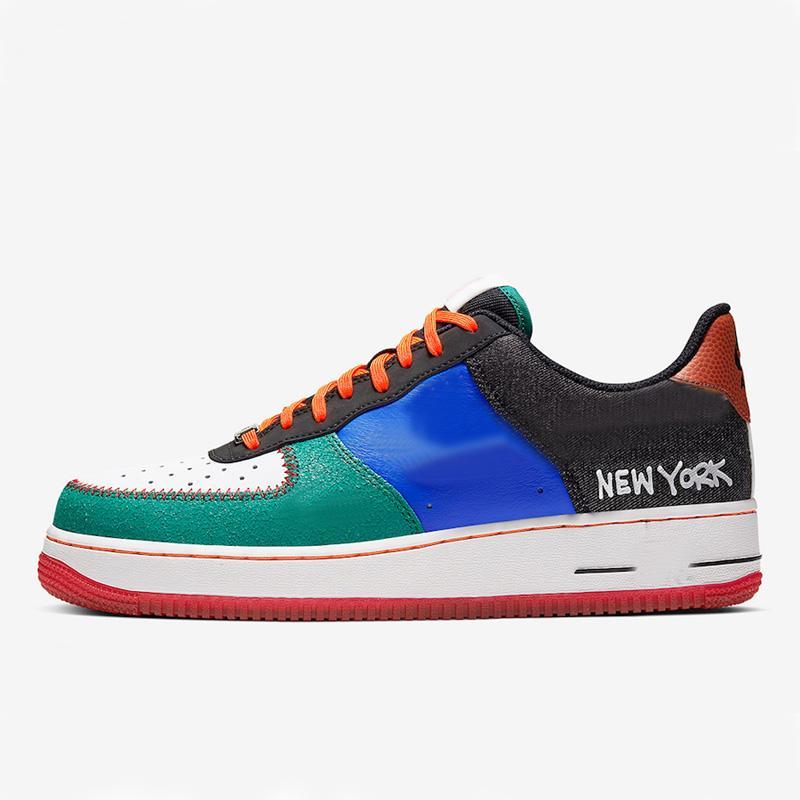 2021 مدينة نيويورك نمط 1 '07 للرجال النساء العشاق قطع منخفضة التزلج أحذية الهواء سكيت أحذية الحجم EUR36-45