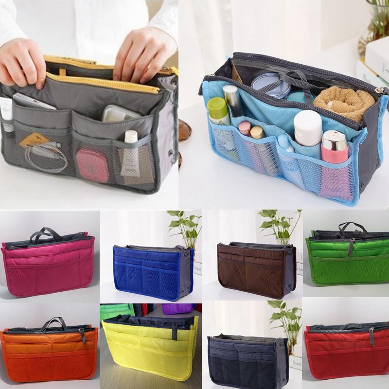 Makeup-Tasche Massivfarbe Tragbare Kosmetiktasche Kreativer Aufbewahrungsbeutel Reise Waschen Organizer Multifunktionale Toilette Aufbewahrungstasche HA530
