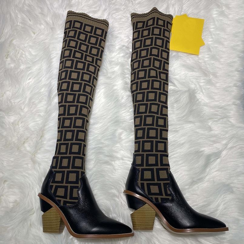 Kış Sıcak Satış Moda Lüks Tasarımcı Çizmeler Çizmeler Çevirme Deri Sıcak 35-41 Kemer Kutusu Ayakkabı 008 1-9