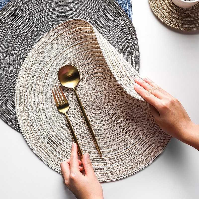 4шт полый круглый плакат водонепроницаемый нескользящий обеденный столовый коврик кухонный чашка коврик теплоизоляции стейк пластинчатый кофе