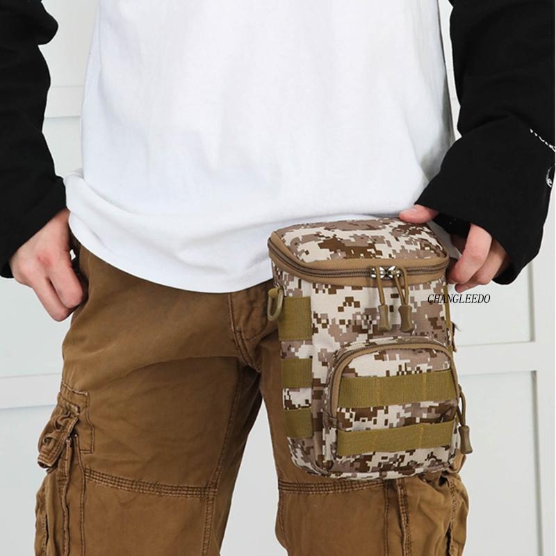 Camouflage Oxford waist bag outdoor travel equipment single shoulder bag multi-functional tactical crossbody Bags c256 C0305