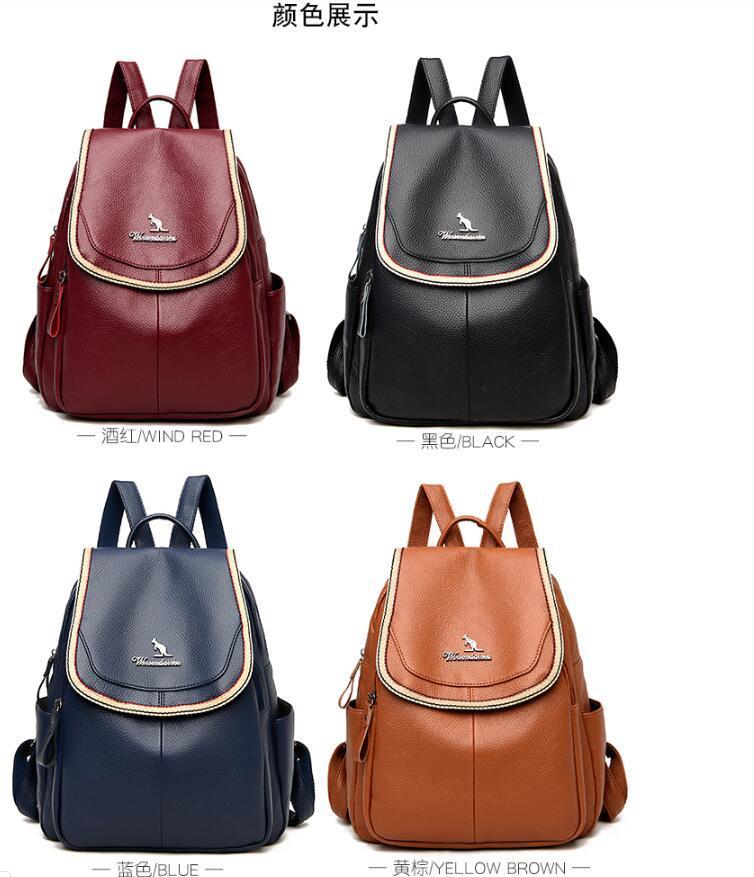 HBP 2021 Новые Сплошные Цветные Рюкзаки Высококачественные Повседневный Рюкзак Мода Мода Большой Емкость Путешествия Рюкзак Женская Студенческая Школьная сумка