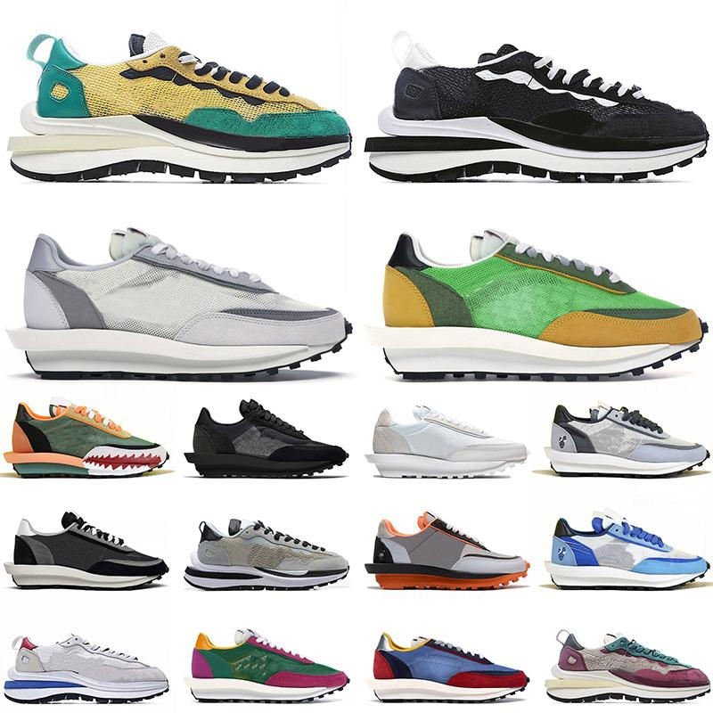 2021 Yeni Sacais LDV LD Waffle Vaporwaffle Spor Koşu Ayakkabıları Erkek Bayan Neptün Yeşil Gusto Saf Platin Eğitmenler Blazer Ayakkabı 36-45