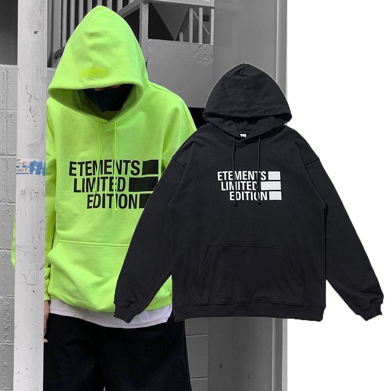 Europa América Moda Outono Inverno Oversize Bolso Hoodie Limited Skate Algodão Moletom