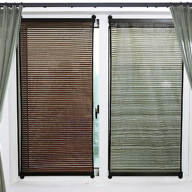 1pc Roller Window Sun Shades For Home Blinds Punch Free Sunshade Window Curtain For Home Bedroom Living Room Store (135x60cm )