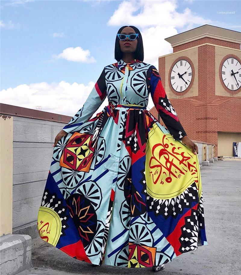 Designer Designer Dresses Plus Size Dress Dresses Etnico stampato con fianchi Big Gonna Casual Sexy Sexy Dress Dress Dress Abiti