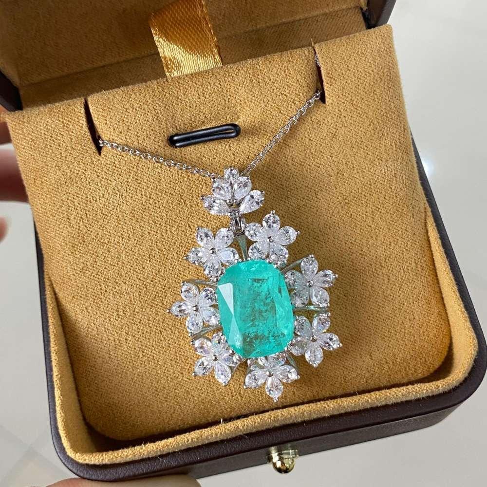 HBP Mode Shipai Schmuck Neue Stil Frauen Anhänger Synthetische Palaiba 12 * 16 Blume Halskette