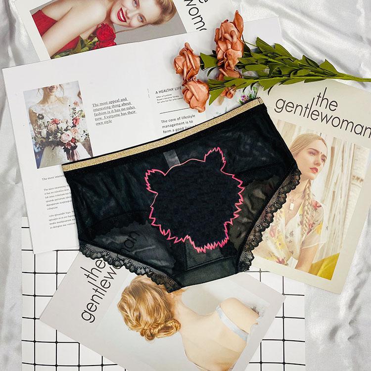 Culotte femme Sous-vêtements Modèle de mode Modèle avec lettres à l'arrière 2021 Arrivées Girls Sexy Mesh Slips Boxers Femmes Summer Grossiste