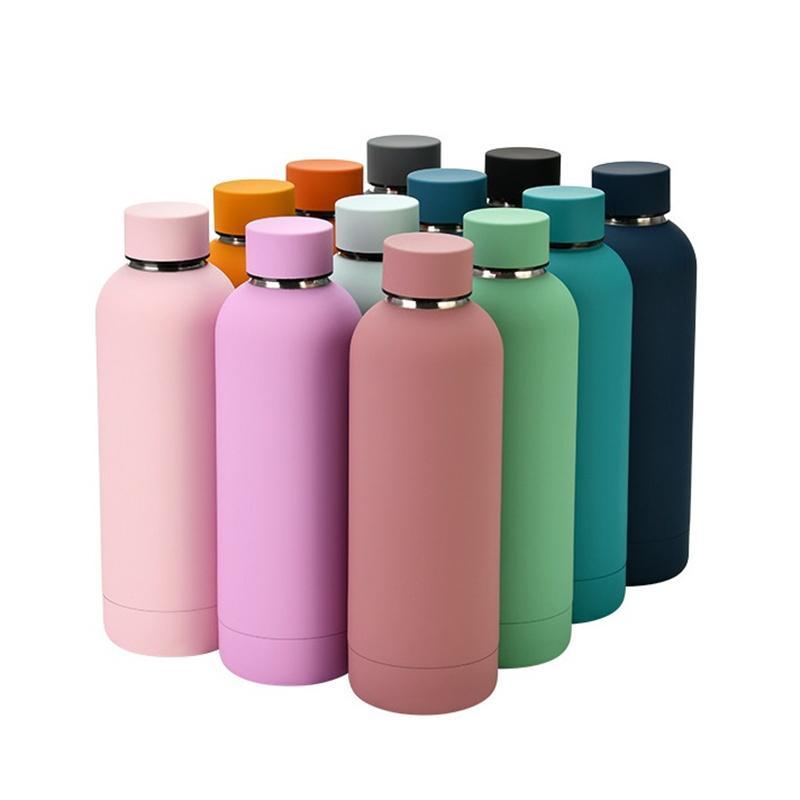 500ml frasco esportes garrafa de água dupla parede de aço inoxidável de aço inoxidável canecas canecas de água portátil de viagem T9i001142