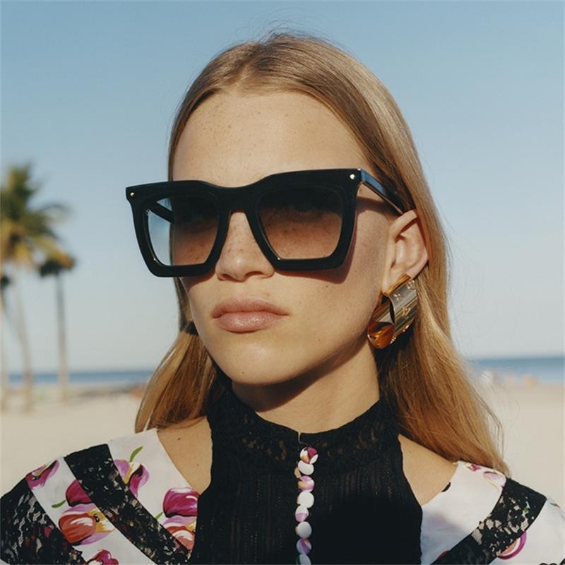 Sunglasses Gradient Black Square Oversized Women 2021 Frace Brand Designer Big Frame Sun Glasses Female Vintage Shades UV400