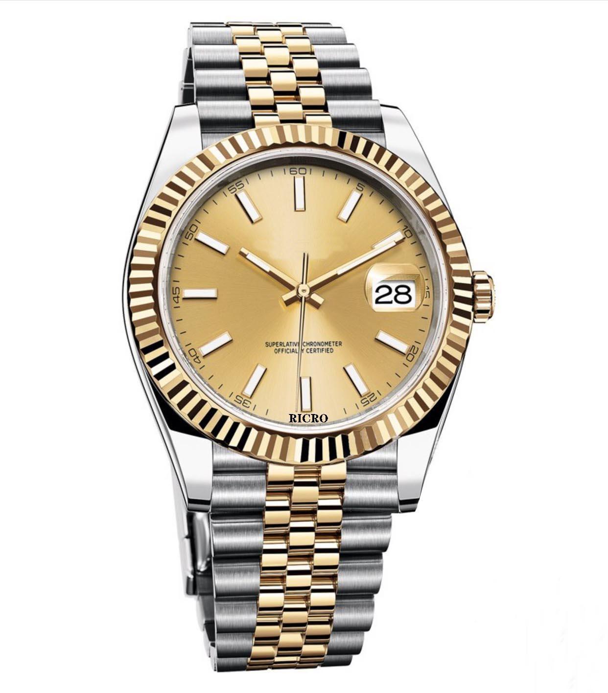 Orologio da uomo, avvolgimento automatico meccanico, movimento 2813, orologi in acciaio inox, vetro zaffiro, fibbia pieghevole, commercio all'ingrosso e reta