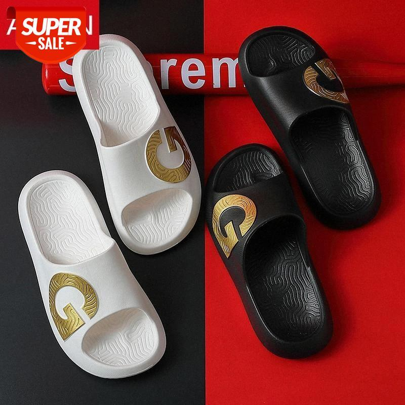 ASIFN Fashion Beach Beach Pantoufles en plein air Indoor Gold G Style Gip Foots FLIP TLOPLES Homme ZapaTos de Hombre # EP45