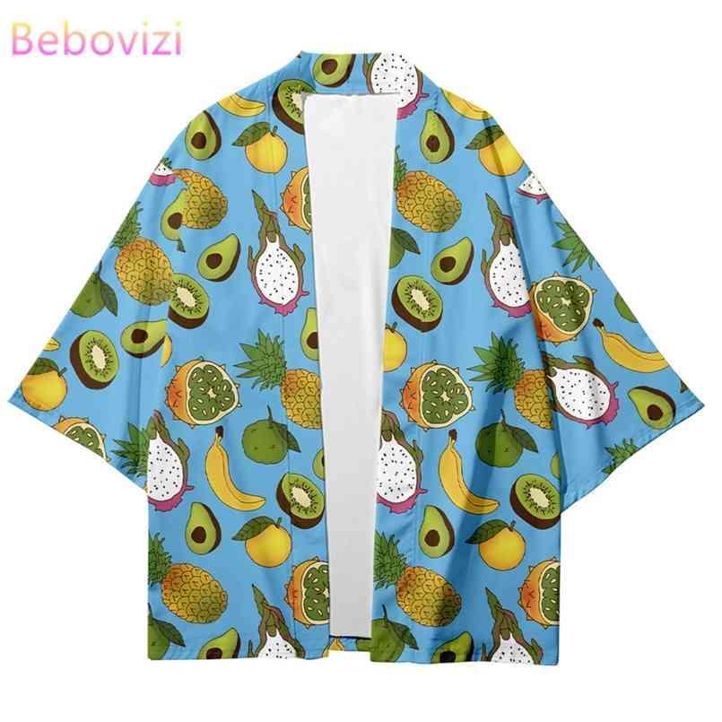 Plus Größe XXS-6XL Green Kawaii Japanische Streetwear Strethigan Frauen Männer Harajuku Haori Cosplay Kimono Top Yukata Kleidung 210603