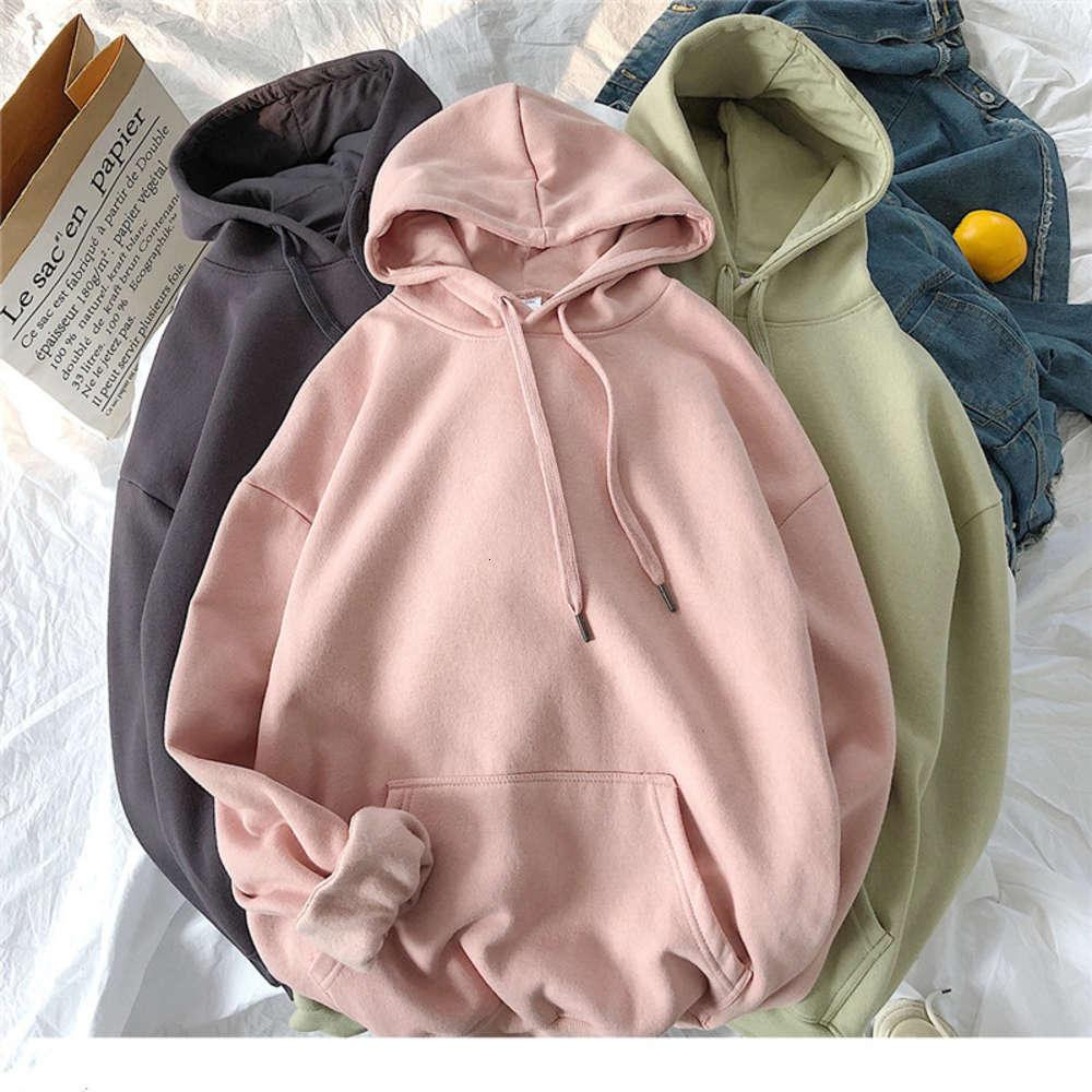 Plus Vielet Solid Color Felpe Donna Harajuku 9 Colori Hoodied Hoodie Giapponese Stile Giapponese Casual Casual Houdover Hoody Hoody