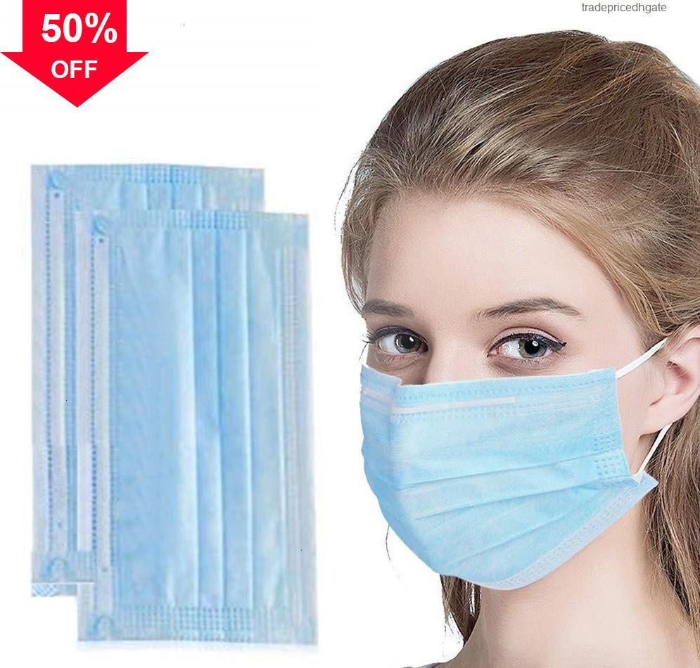 Meltblown Moyen Professional Standard AAJYY 1000 PCS N 95 Masque épais avec masques de visage BFE élastique Tissus non tissés Earboop