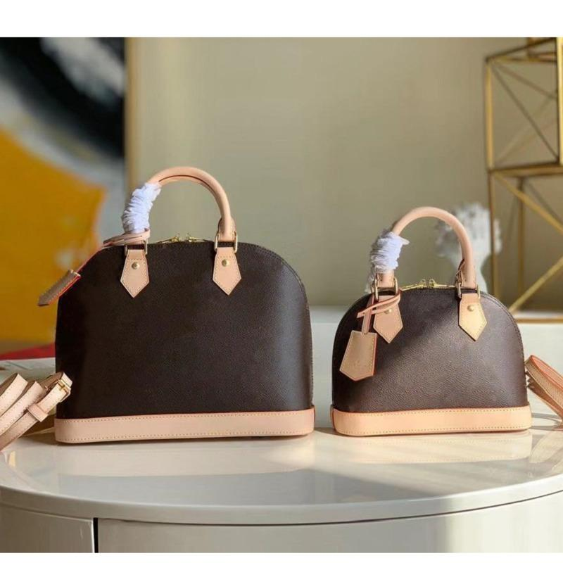 Higt 품질 Alma BB 토트 패션 여성 어깨 가방 체인 메신저 가방 가죽 핸드백 쉘 지갑 숙녀 화장품 Crossbodys 2021