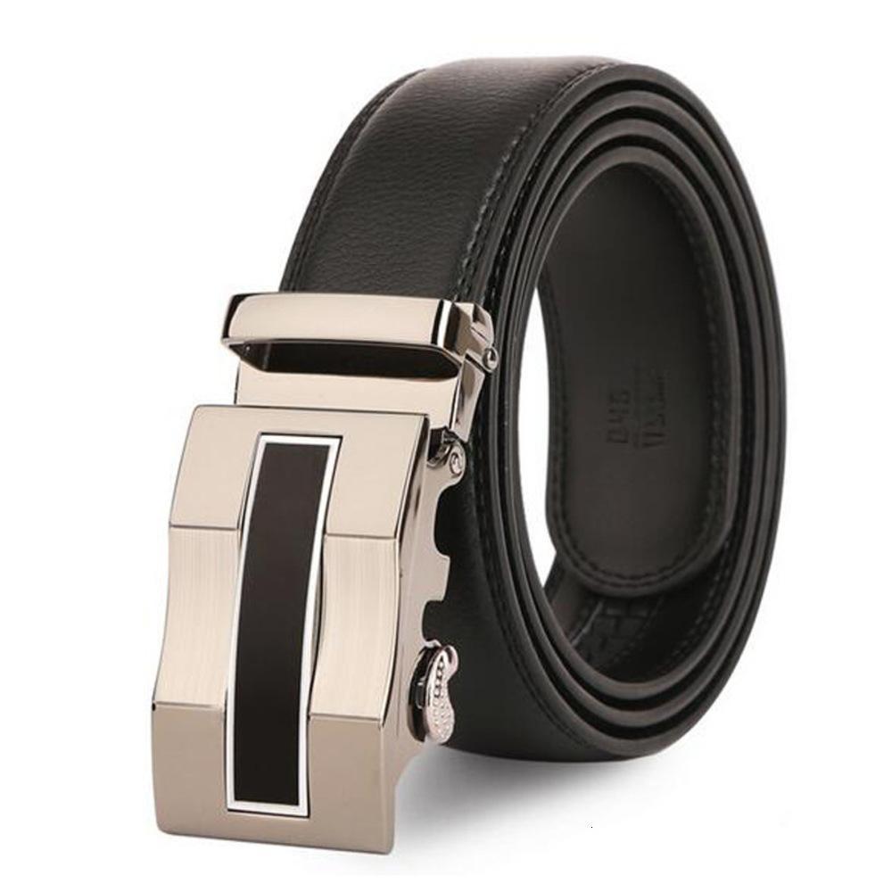 Celezo de cuero joven y de mediana edad de cuero para hombre Cinturón de hebilla automática de moda coreana