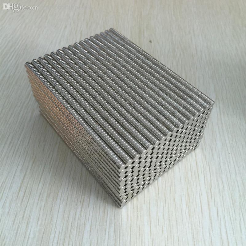 Neodymium Magnet Permanent N35 200pcs Strong Round NdFeB Magnets Dia 4x2mm Rare Earth