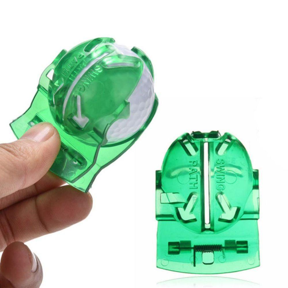 Atacado- Bola de golfe Line Line Marker Modelo de Desenhar Templete Linear Mark Alinhamento Putting Clip Tool 100 W2