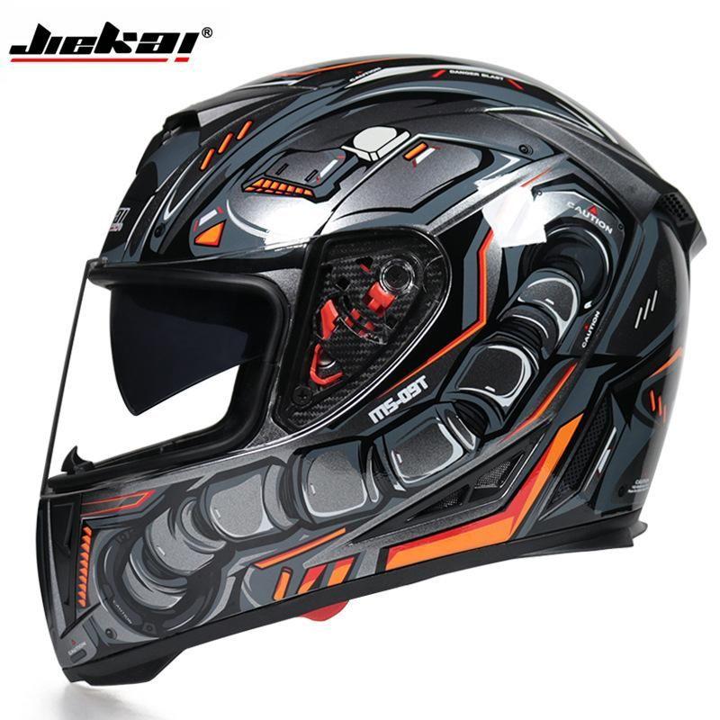 Casques de moto Full Visage Casco Moto 2XL Doublure lavable avec casque de course double objectif Capacete de motocross DOT approuvé