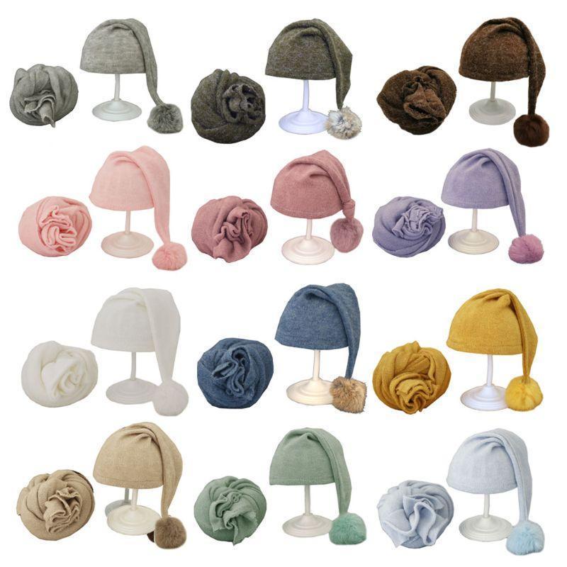 Caps Hats 2021 Pogal Born Pogal Envoltórios + Hat Set Beanie Propshoot para Baby Boys Meninas Acessórios