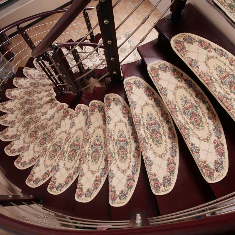 Ein Quadratmeter-Haushalts-Massivholz-Treppen-Matte-Kleber frei freiklebender Schritt-Ecke Full Spread-Decke Anti-Slip