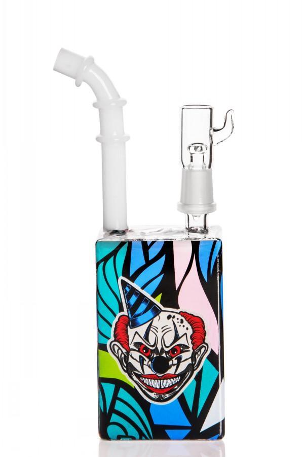 narguilé portable mini bécher recycleur de tuyau de tuyau de recyclage hybride onduleur anti-dévastage fumer bong huile dab