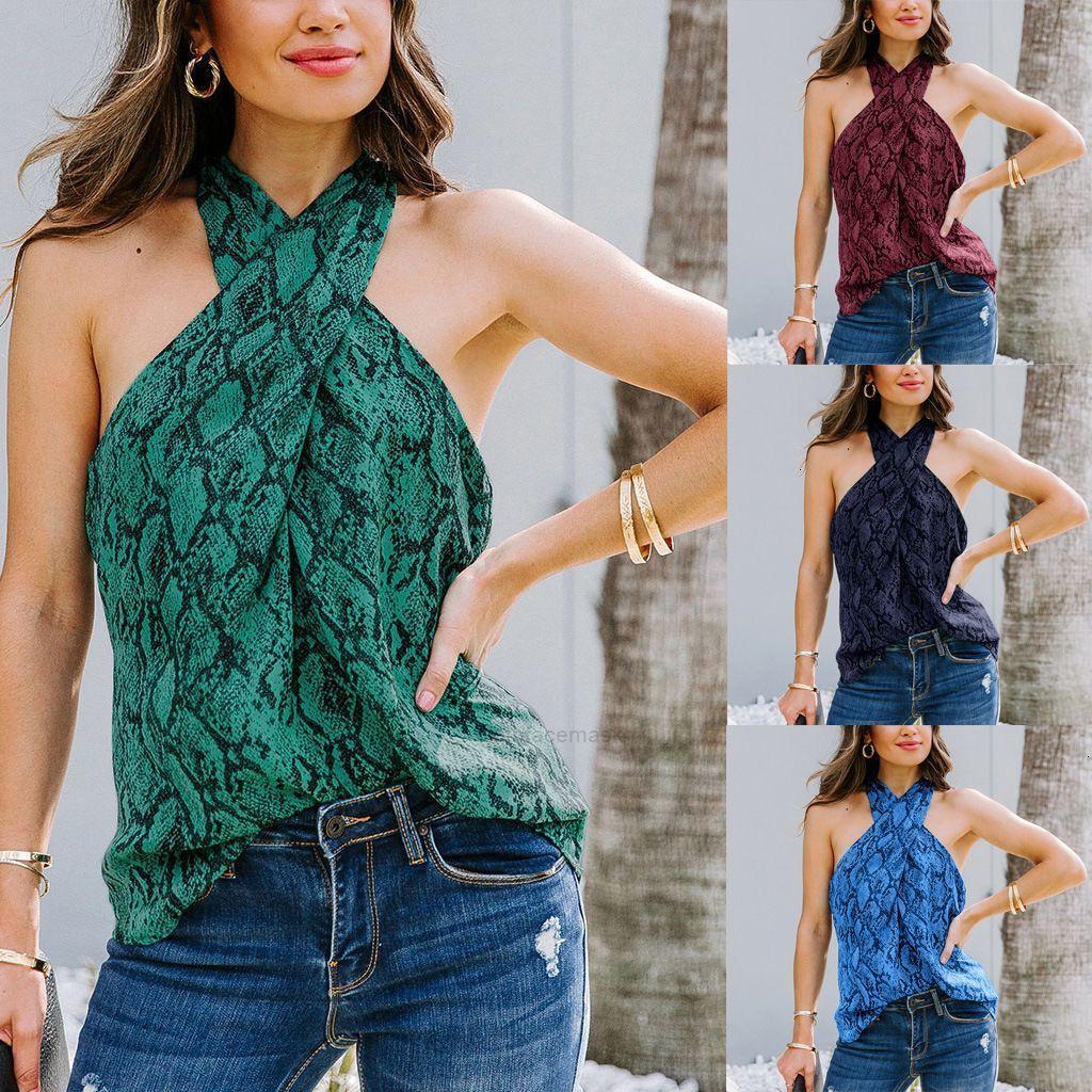 2020 летняя новая носить пуловер прямой трубки крест грудь маленький слинг жилет женский topxhj6qd