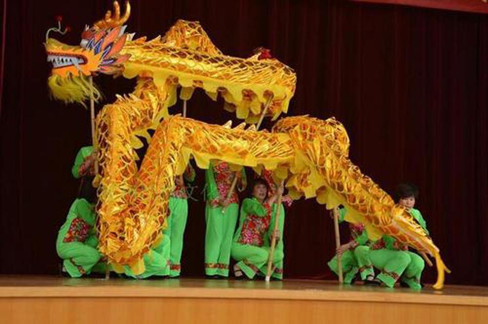 Tamanho 4 # 10m Longo Dança Dragão Dragão 6 Jogador Ourtdoor Desempenho Festival Adulto Festival Folk Mascot Cultura Especial Festa de Natal