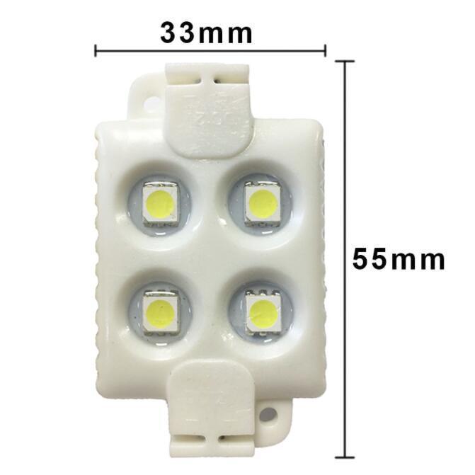 Module LED SMD 4 LED DC12V Modules de conception de la publicité étanche à l'étanche SUPER SUPER SUPER BLANCHE WHITE WHITE WHAND WHAND Lettre d'éclairage