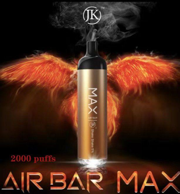 Air Bar Max Sigarettes Misurable Vape Pen 1250mAh 6.5ml 2000 Puffs Vaporizzatore Vuoto Vuoto Kit di avviamento Vuoto Pre-cartuccia per cartuccia Mescolo Colori