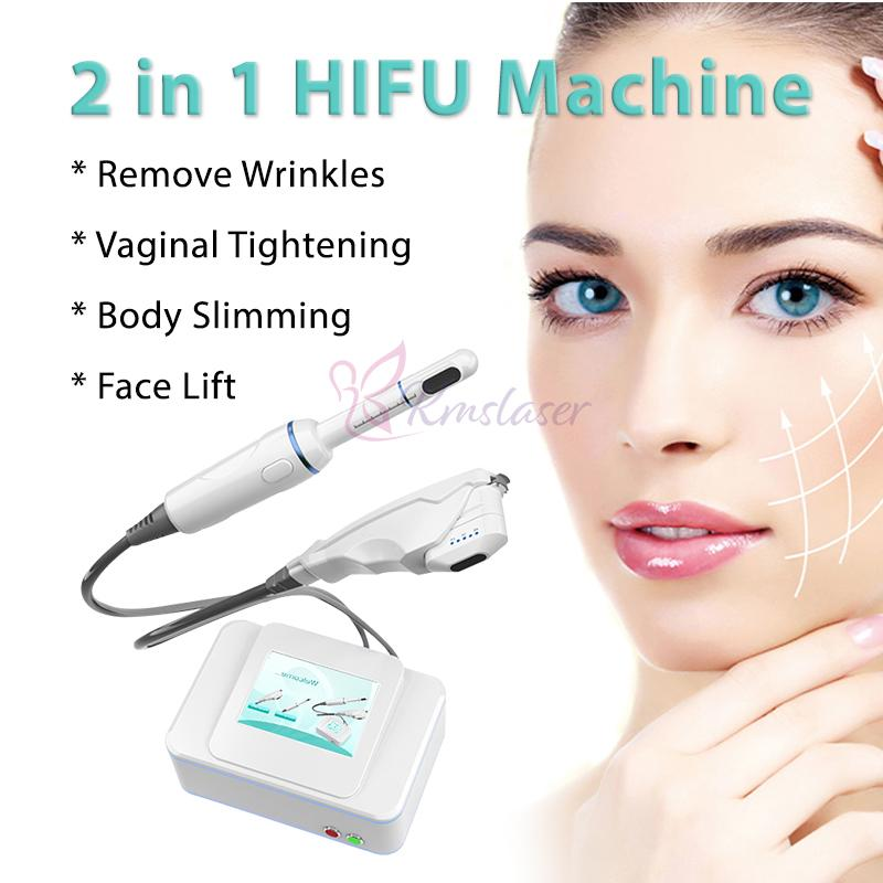 Portable 2 in 1 corpo macchina HIFU BODY Slimming Vasining Stringing Rejuvenation Weekily Rimovello per la cura della pelle Attrezzature di bellezza